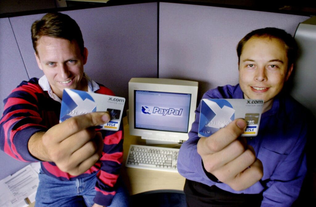 Elon Musk with brother in PayPal Comapany
