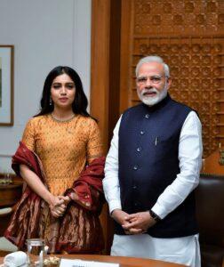 Bhumi Pednekar with Narender Modi