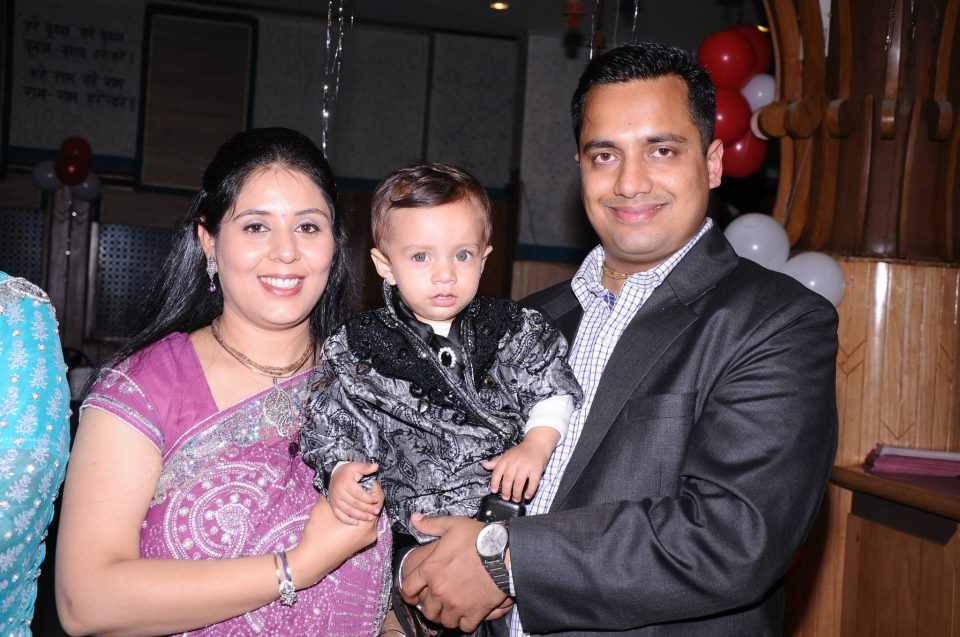 Dr. Vivek Bindra family