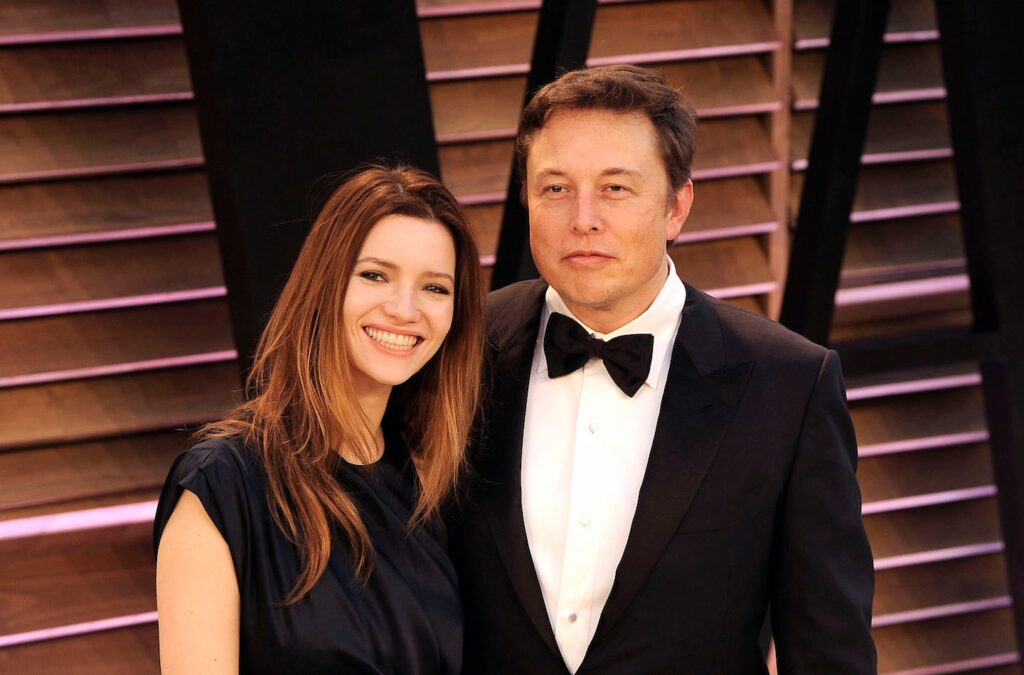 Elon Musk With Second Wife