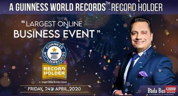 Dr Vivek Bindra Guinness World Record