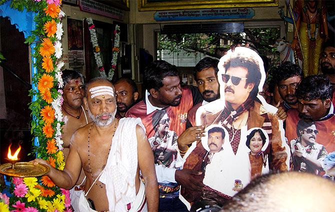 Rajinikanth worship as god