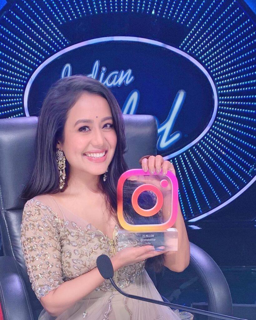 Instagram Trophy Neha Kakkar