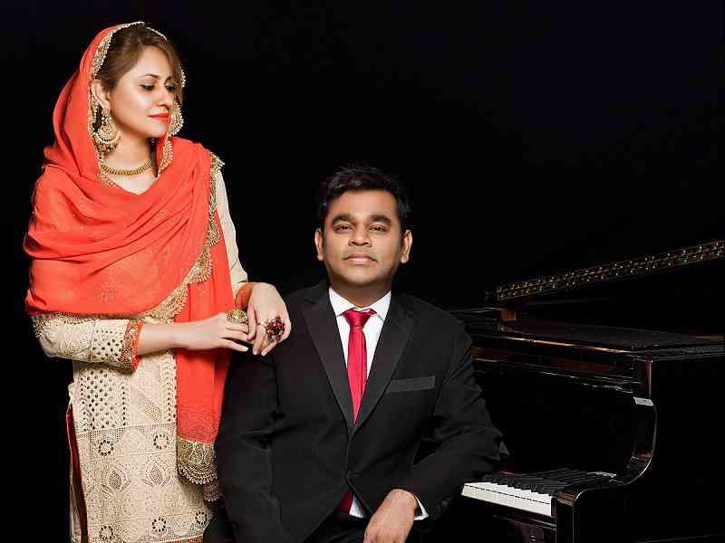 A.R. Rahman with wife Saira Banu