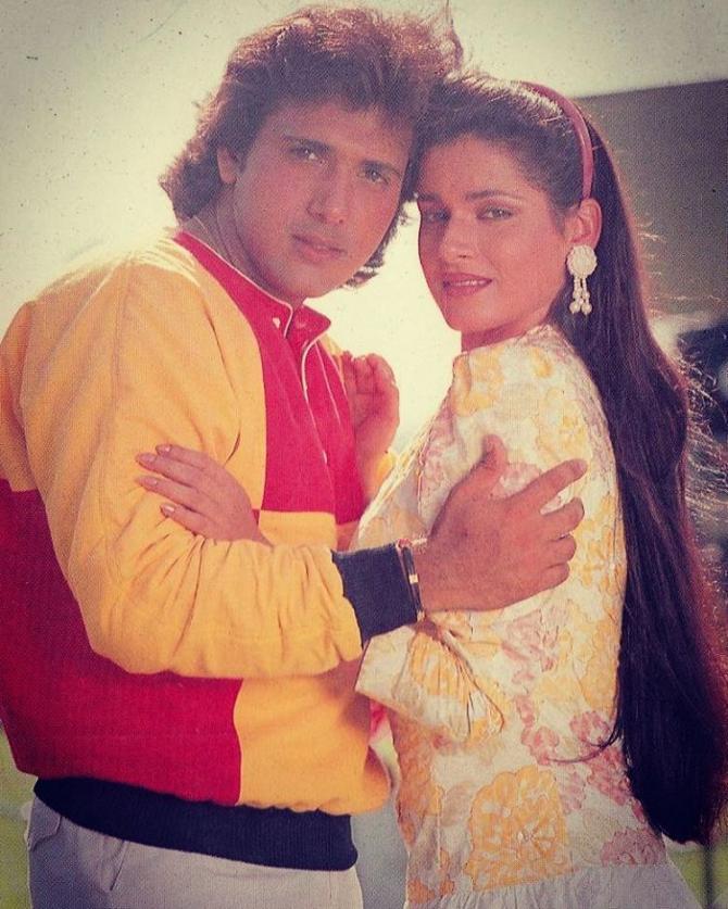 Govinda with his Girlfriend Neelam Kothari