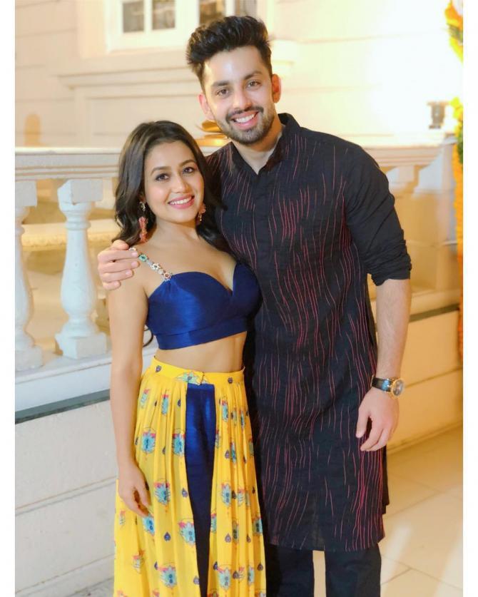 Neha Kakkar with her boyfriend Himansh Kohli