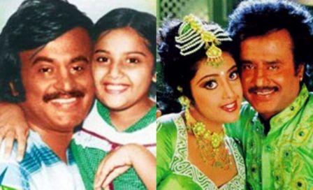 Rajinikanth with meena