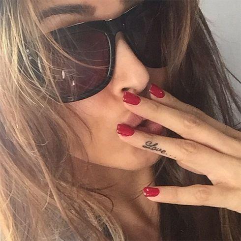 Malaika Tattoo--Love on her finger