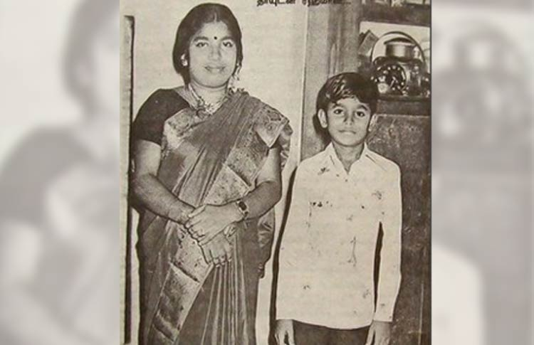 A.R. Rahman with mother