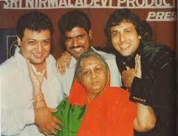 Govinda with mother nirmala devi