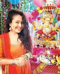 Neha Kakkar ganesha worship