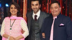 Ranbir Kapoor with parents