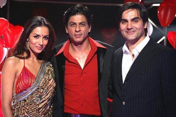 Malaika Arora With Shah Rukh Khan and Arbaaz Khan (huband)