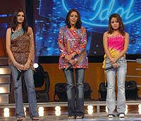 Neha in Indian Idol as contestant