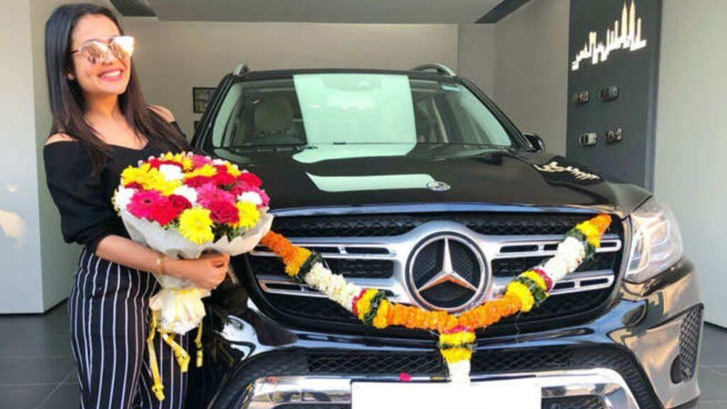 Neha Kakkar car Mercedes Benz