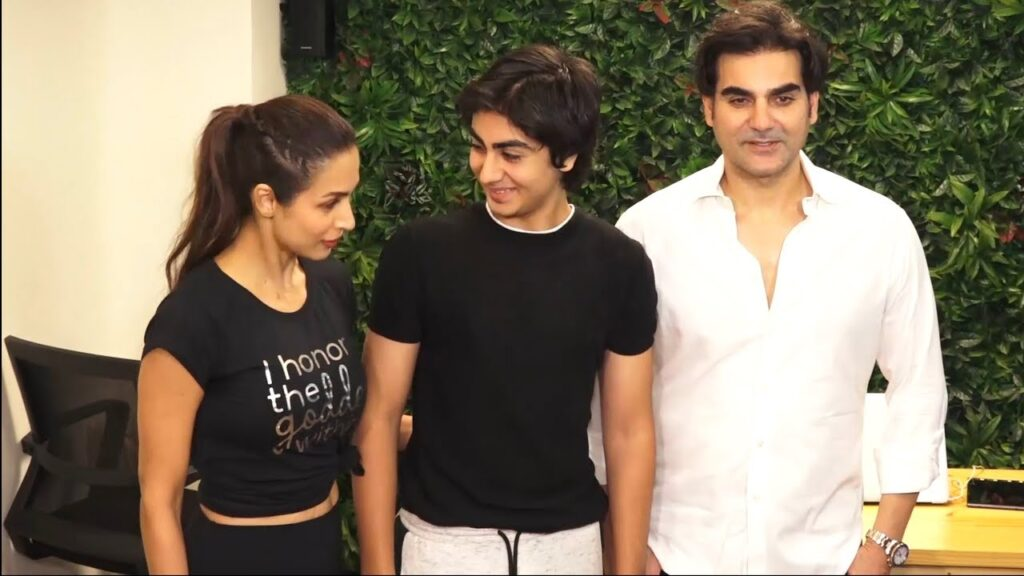Malaika Arora with Son Arhaan and husband Arbaaz Khan
