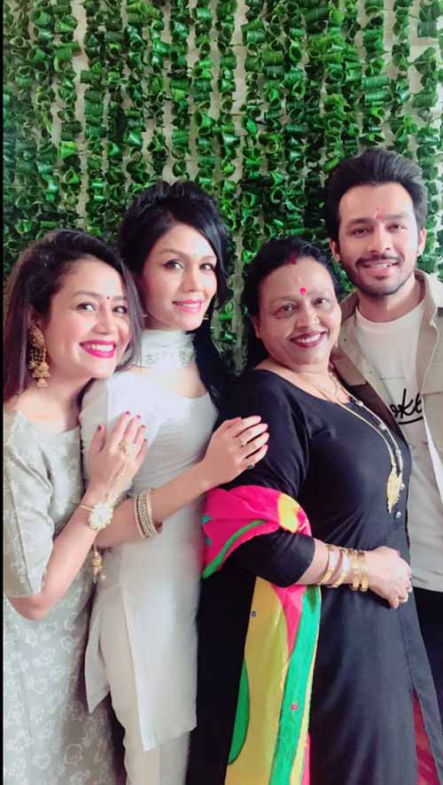 Neha family- Sister, Mother, Brother