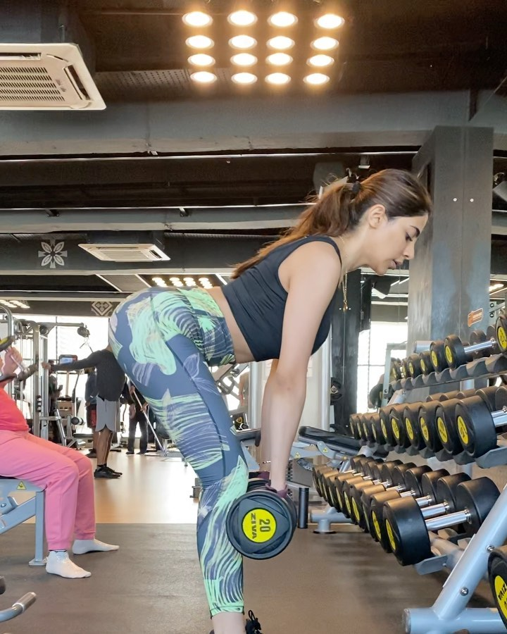 Fitness exercise in gym