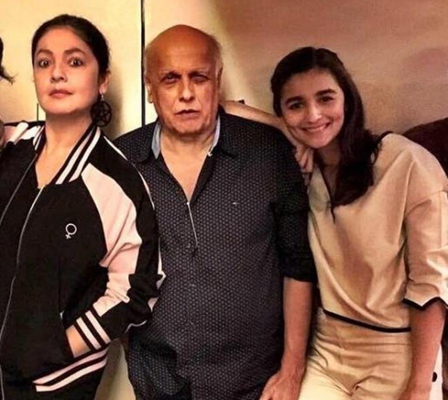 Sister Pooja and Father Mahesh Bhatt