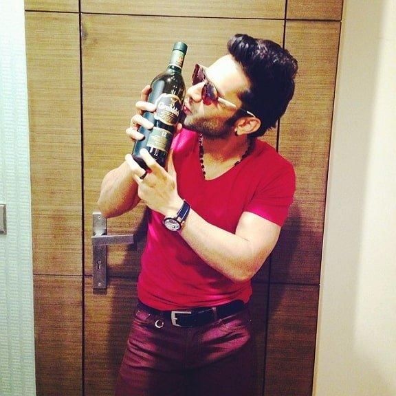 Rahul Vaidya drink
