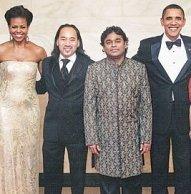 AR Rahman with Barack Obama