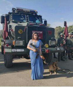 Tina Dutta in Srinagar
