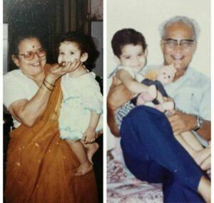 Mithila Palkar grandparents