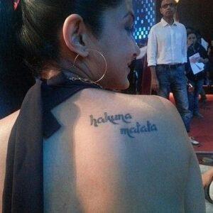 Jennifer winget tattoo