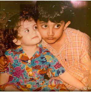 Sanjana Sanghi childhood pic