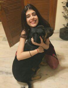 Sanjana Sanghi pet dog