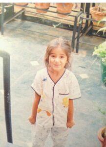 Ananya Pandey childhood pic