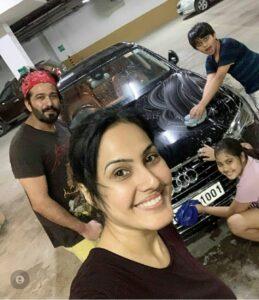 Kamya Panjabi audi car collection