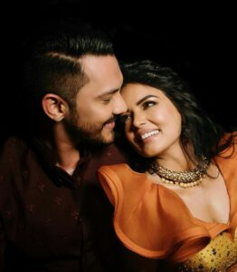 Aditya Narayan with Shweta Agarwal