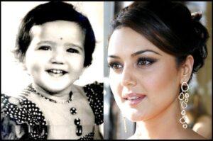 Childhood pic of Preity Zinta