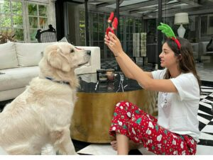 Ananya Pandey pet dog fudge