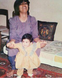 Rhea Chakraborty childhood pic