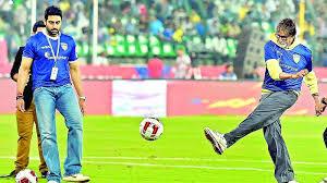 abhishek bachchan  football
