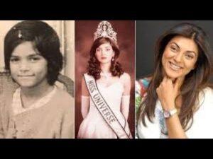 Sushmita Sen Childhood pic