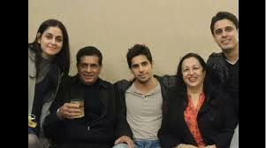 Sidharth with his family