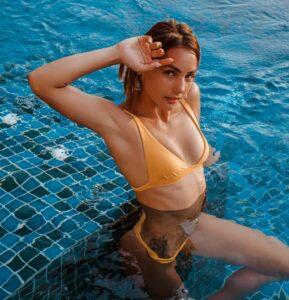 Kat Kristian swimming