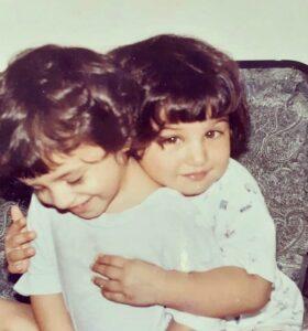 Tara Sutaria childhood pic
