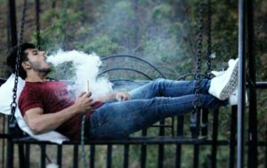 Vyomesh Koul smokes