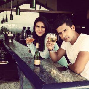 Nia Sharma drinking alcohol