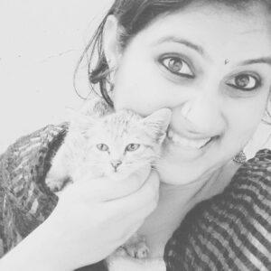 Geetha Bharathi Bhat pet cat