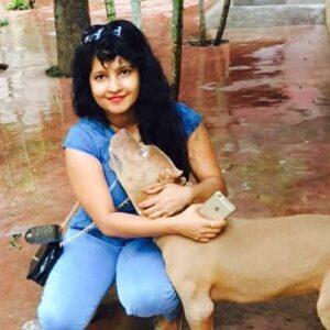Shubha Poonja pet dog