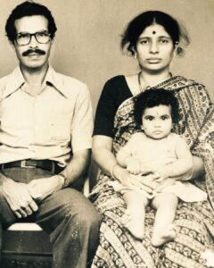 Shubha Poonja Childhood pic