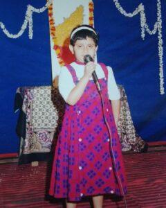 Geetha Bharathi Bhat childhood pic