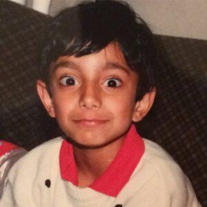 Riz Ahmed's childhood pic