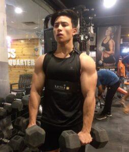 Gary Lu during workout gym