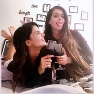 Priyanka Chahar Choudhary drinking alcohol